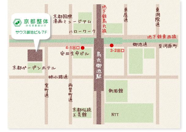 京都整体地図